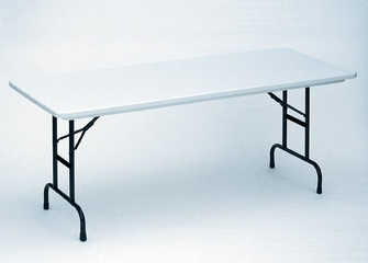 """Blow Molded Adjustable Height Folding Table 24"""" x 48"""" - Correll Office Furniture - RA2448"""
