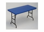 "Blow-Molded Adjustable Height Folding Table 24"" x 48"" - Correll Office Furniture - RA2448-C"