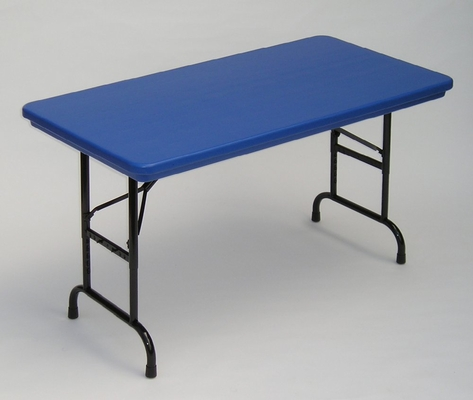 Blow-Molded Adjustable Height Folding Table 24