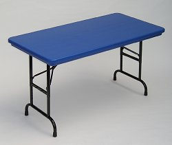 """Blow-Molded Adjustable Height Folding Table 24"""" x 48"""" - Correll Office Furniture - RA2448-C"""