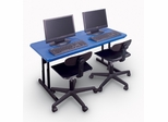 "Blow-Molded Desk Height Computer Table 30"" x 72"" - Correll Office Furniture -"