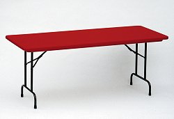 """Blow-Molded Fixed Height Folding Table 24"""" x 48"""" - Correll Office Furniture - R2448-C"""