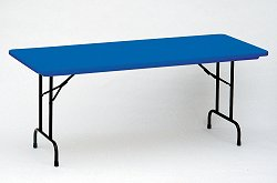"""Blow-Molded Fixed Height Folding Table 30"""" x 60"""" - Correll Office Furniture - R3060-C"""