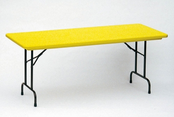 """Blow-Molded Fixed Height Folding Table 30"""" x 72"""" - Correll Office Furniture - R3072-C"""