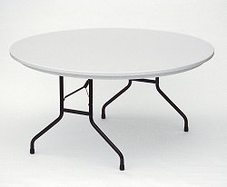 """Blow Molded Fixed Height Folding Table 60"""" Round - Correll Office Furniture - R60"""