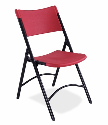 Blow Molded Folding Chair in Red (Set of 4) - National Public Seating - 640-SET