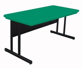 """Blow-Molded Keyboard Height Computer Table 24"""" x 48"""" - Correll Office Furniture -"""