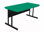 """Blow-Molded Keyboard Height Computer Table 30"""" x 72"""" - Correll Office Furniture -"""