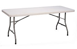 """Blow-Molded Plastic Folding Table 30"""" x 96"""" - Correll Office Furniture - CP3096"""