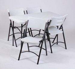 Blow-Molded Plastic Folding Table and Chairs Set - Correll Office Furniture