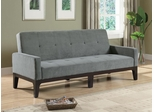 Blue Grey Sofa Bed with Track Arms - 300229