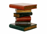 Book Stack Style Wood End Table in Red / Green / Blue - frt1004