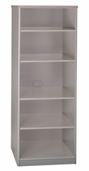 """Bookcase - 19.5"""" Deep - 5 shelf - Series A Pewter Collection - Bush Office Furniture - WC14568"""