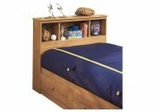 Bookcase Headboard in Country Pine - South Shore Furniture - 3432098