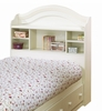 Bookcase Headboard in Vanilla Cream - South Shore Furniture - 3210098