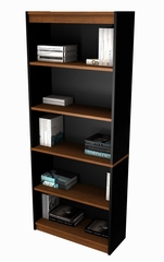 Bookcase in Tuscany Brown and Black - Innova - Bestar Office Furniture - 92700-63