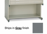 Bookshelf base for 30 Inch x 42 Inch File in Gray - Mayline Office Furniture - 7878P5