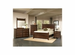 Boone 5 Piece Bedroom Set - Distressed Dark Oak - Largo - LARGO-WG-BOONE-5PC-SET