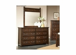 Boone 6 Drawer Dresser Distressed Dark Oak - Largo - LARGO-ST-B1035-10