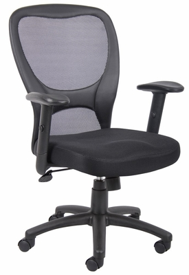 Boss Budget Mesh Task Chair in Black - B6508