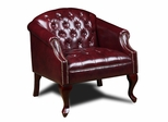 Boss Classic Traditional Button Tufted Club Chair in Burgundy - BR99801-BY