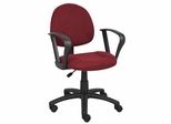Boss Deluxe Posture Chair in Burgundy - B317-BY