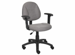 Boss Deluxe Posture Chair in Grey - B316-GY