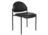 Boss Diamond Stacking Chair In Black Caressoft - B9505-CS