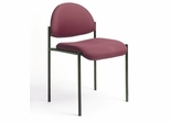 Boss Diamond Stacking Chair In Burgundy - B9505-BY