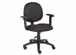 Boss Diamond Task Chair In Black - B9091-BK