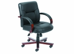 Boss Executive Chair in Black Leather - B8907