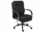 Boss Executive Chair with Chrome Base in Black - B9227