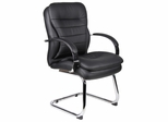 Boss Executive Chair with Chrome Base in Black - B9229