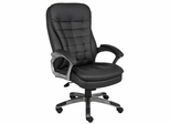 Boss Executive Chair with Pewter Finished Base - B9331