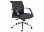 Boss Executive Mid Back Ribbed Chair in Black - B9446