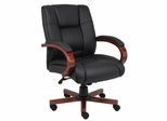 Boss Executive Wood Finished Chair in Cherry - B8996-C