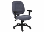 Boss Fabric Task Chair in Sky Blue - B495-SB