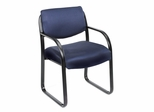 Boss Guest or Visitor Chair in Burgundy - B9521-BY