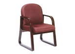 Boss Guest or Visitor Chair in Burgundy - B9570-BY