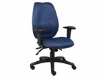 Boss High Back Task Chair in Blue with Seat Slider - B1002-SS-BE