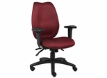 Boss High Back Task Chair with Seat Slider in Burgundy - B1002-SS-BY