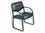 Boss Leather Guest or Visitor Chair - B-9529