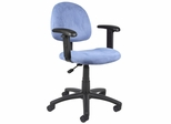 Boss Microfiber Deluxe Posture Chair in Blue - B326-BE