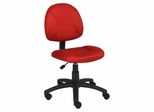 Boss Microfiber Deluxe Posture Chair in Red - B325-RD