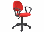 Boss Microfiber Deluxe Posture Chair in Red - B327-RD