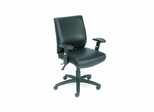 Boss Multi Function Executive Chair with Seat Slider in Black - B706-SS