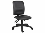 Boss Multi-Function Fabric Leatherplus Task Chair in Black - B3045