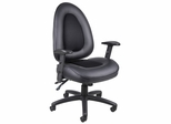 Boss Multi-Functional Mechanism Chair in Leatherplus Black - B780