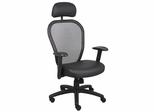 Boss Professional Managers Mesh Chair in Black - B6608-HR