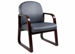 Boss Side Chair In Grey Fabric - B9570-GY